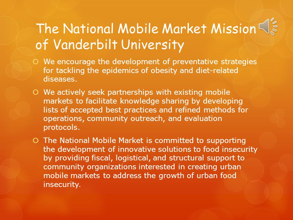 The National Mobile Market Mission of Vanderbilt University
