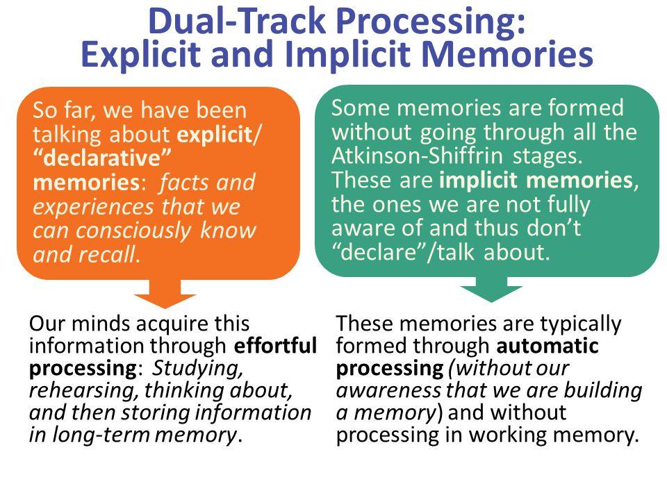 Dual-Track Processing: Explicit and Implicit Memories