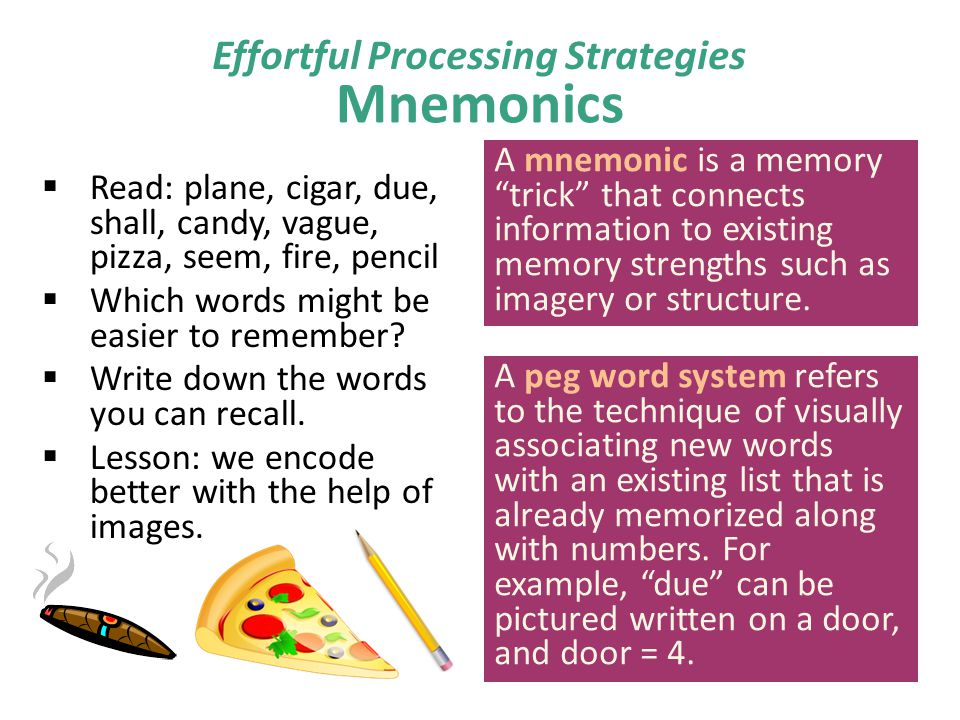 Effortful Processing Strategies