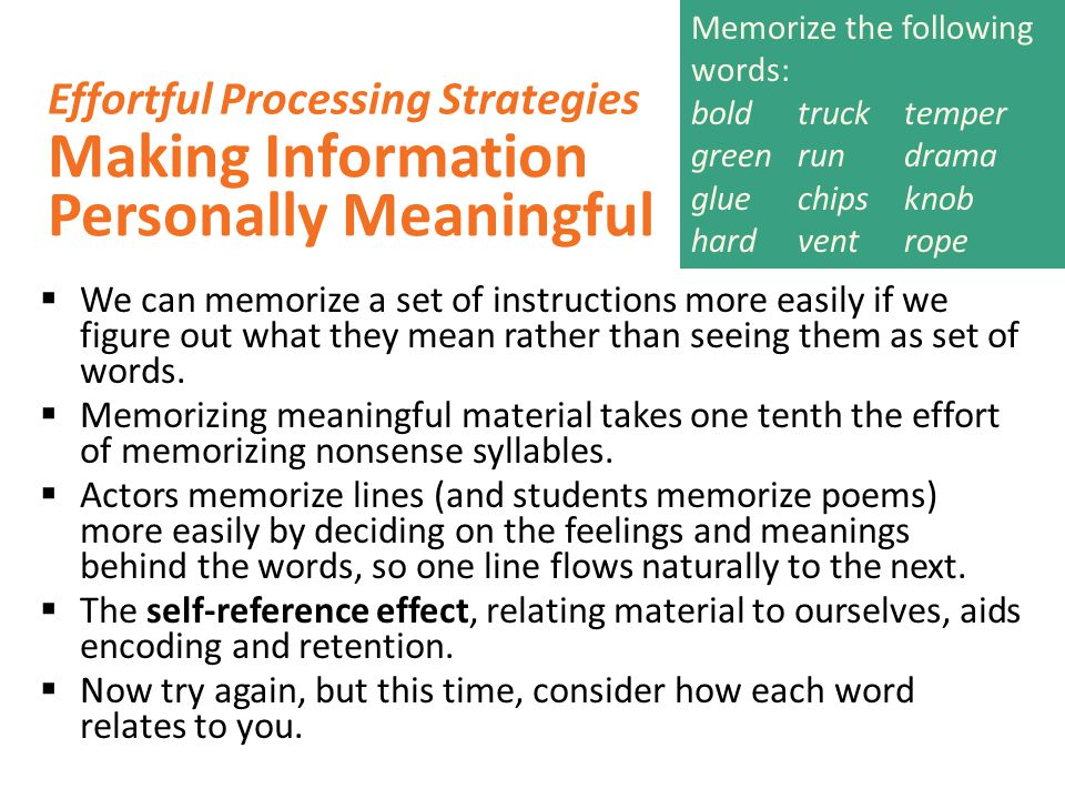 Making Information Personally Meaningful