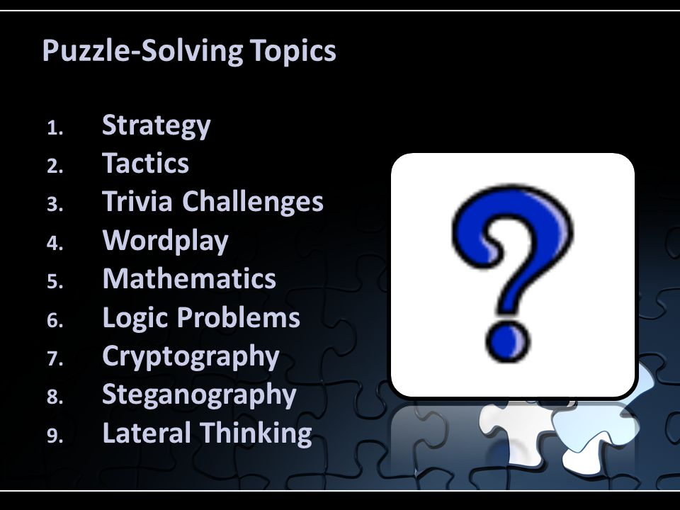 Puzzle-Solving Topics