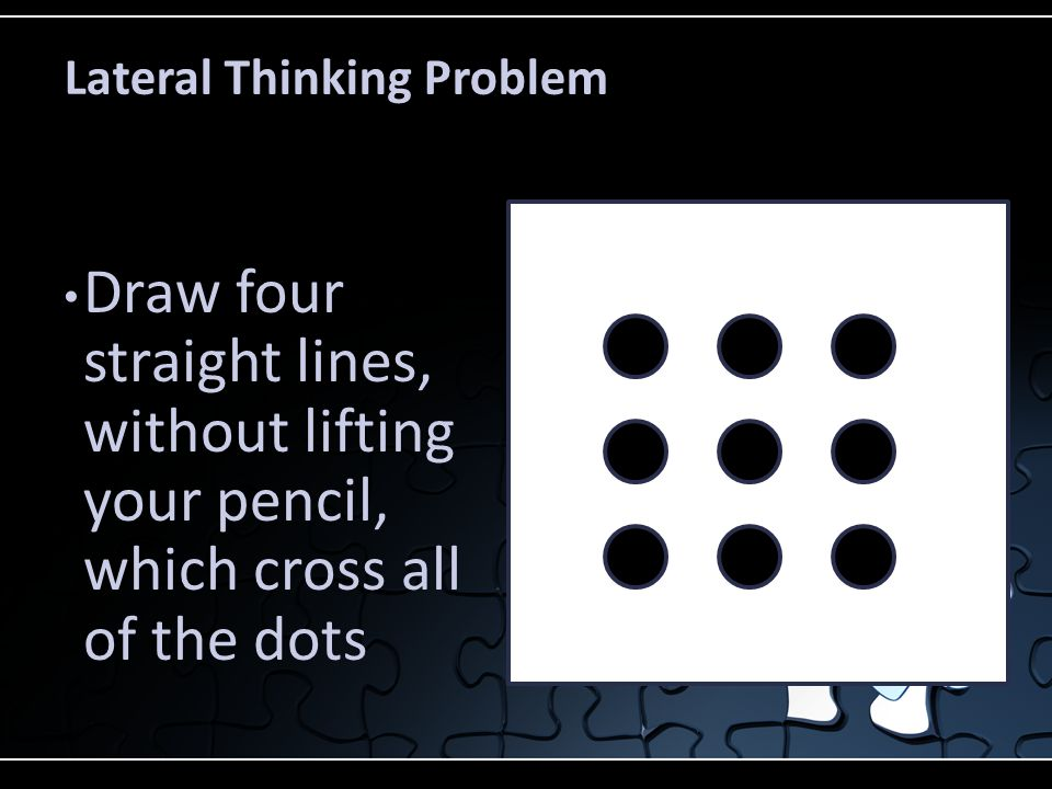 Lateral Thinking Problem