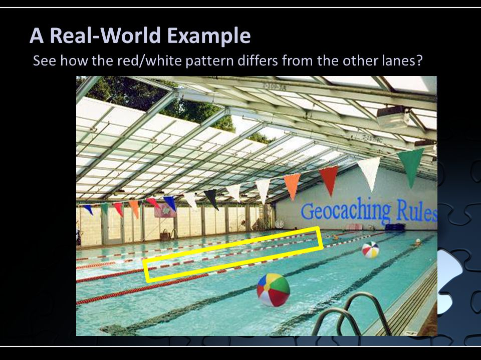 A Real-World Example See how the red/white pattern differs from the other lanes