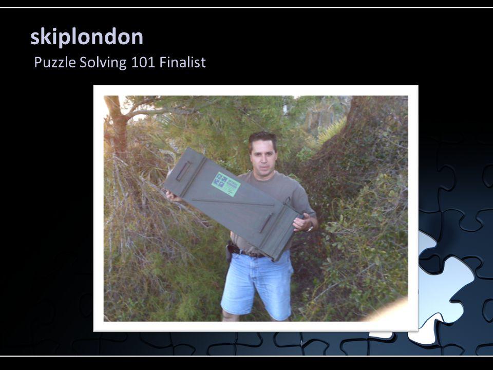 skiplondon Puzzle Solving 101 Finalist