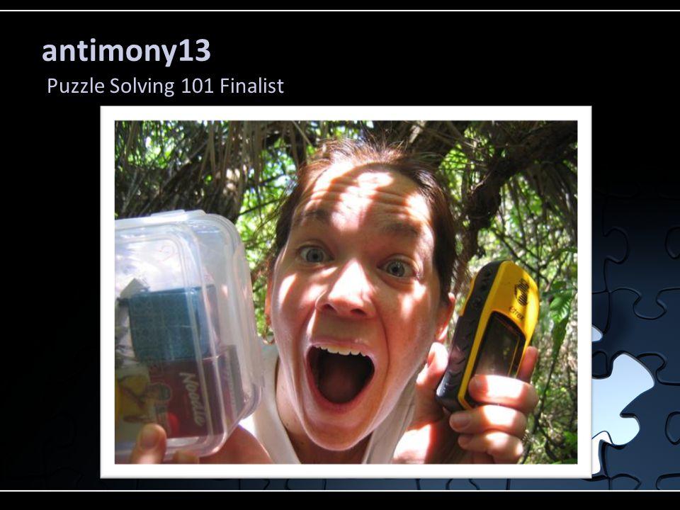 antimony13 Puzzle Solving 101 Finalist
