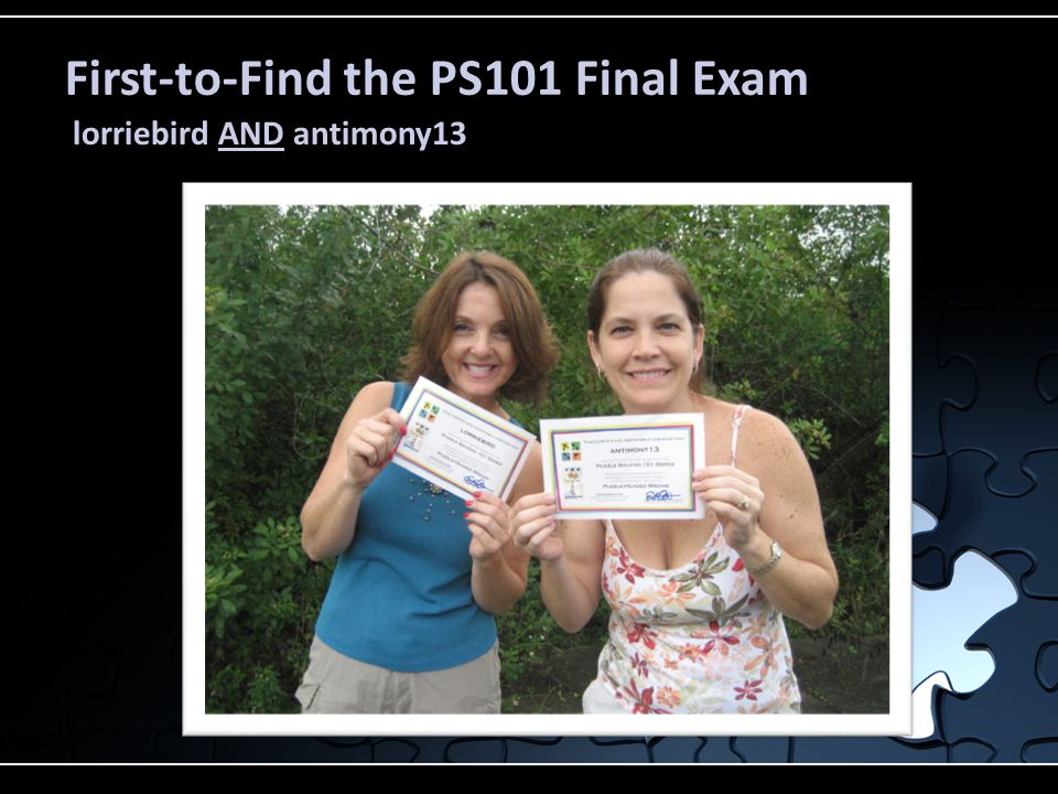 First-to-Find the PS101 Final Exam