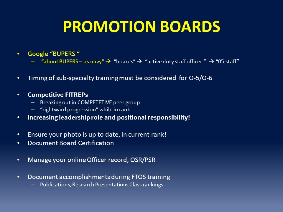 PROMOTION BOARDS Google BUPERS