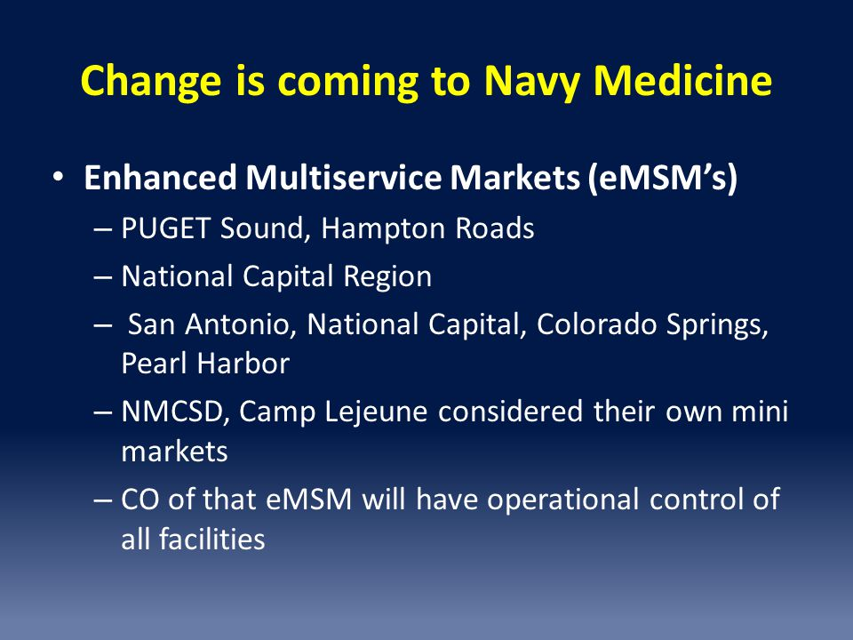 Change is coming to Navy Medicine