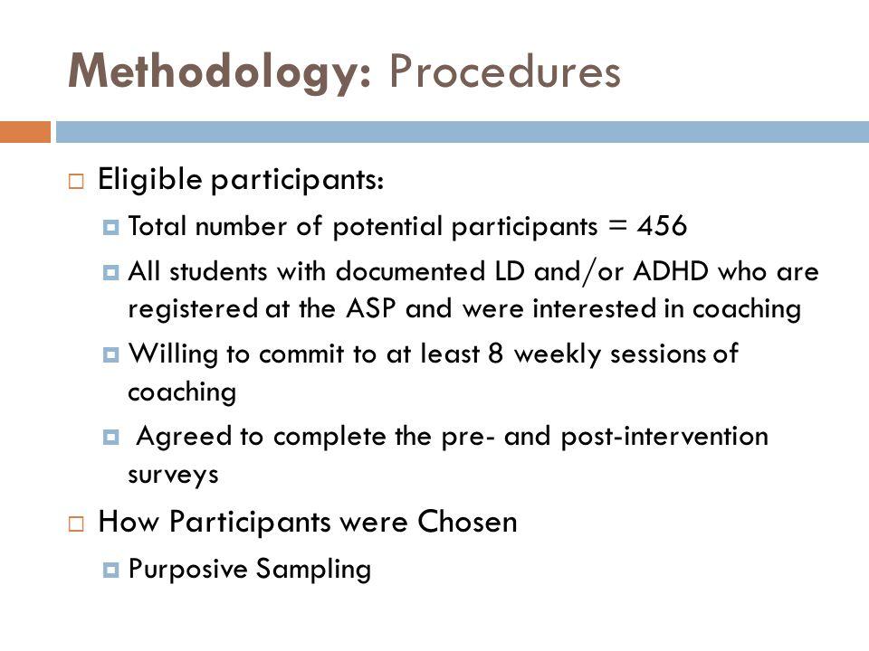Methodology: Procedures