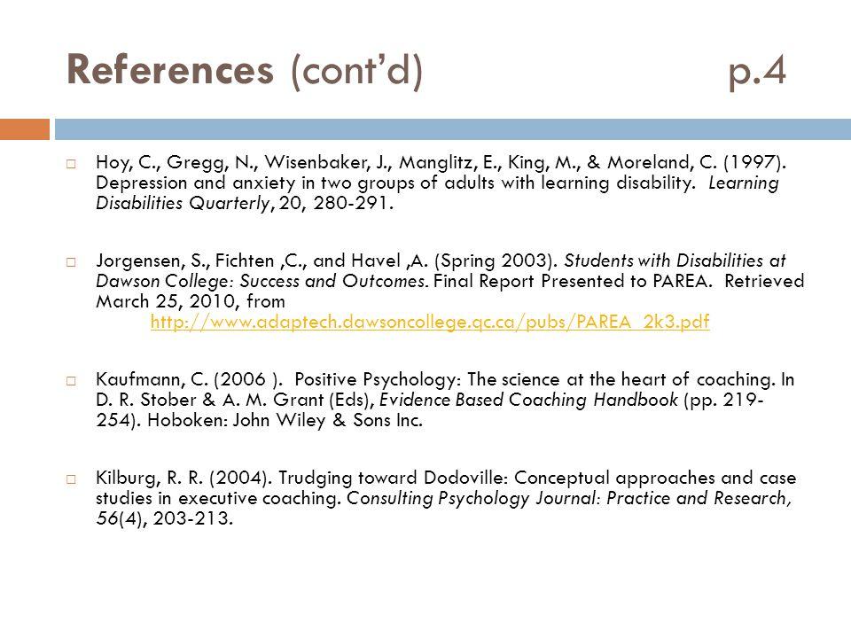 References (cont'd) p.4