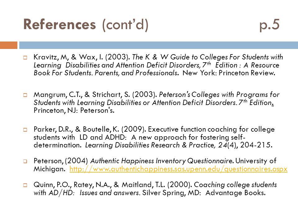 References (cont'd) p.5