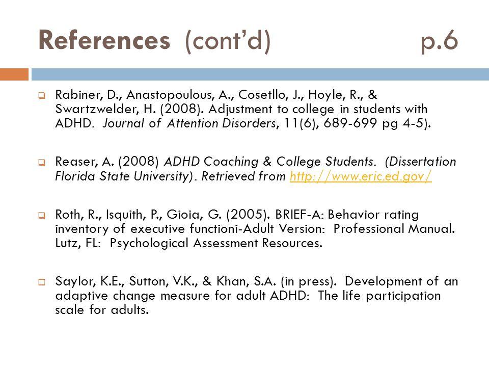 References (cont'd) p.6