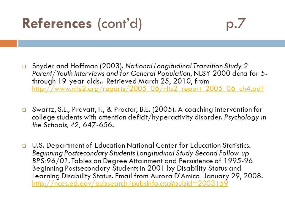 References (cont'd) p.7