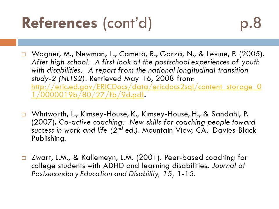 References (cont'd) p.8