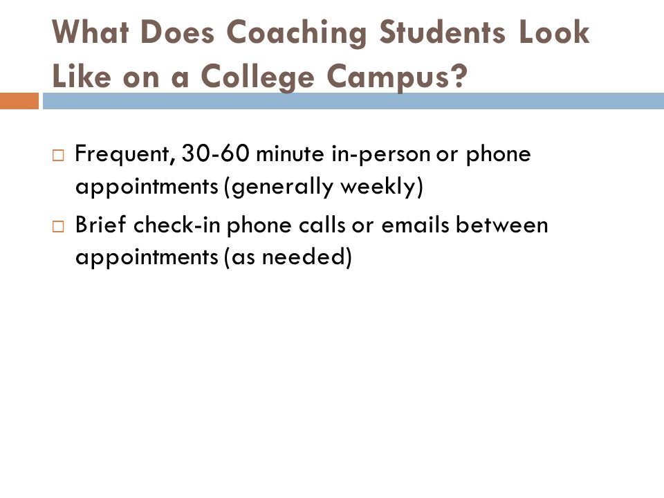 What Does Coaching Students Look Like on a College Campus