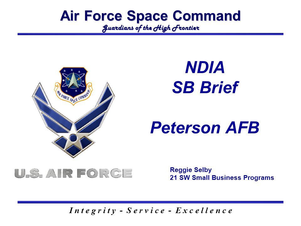 NDIA SB Brief Peterson AFB