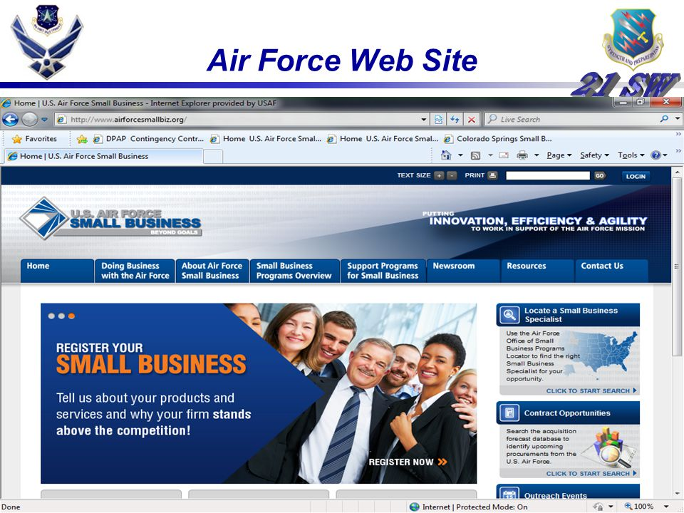 Air Force Web Site