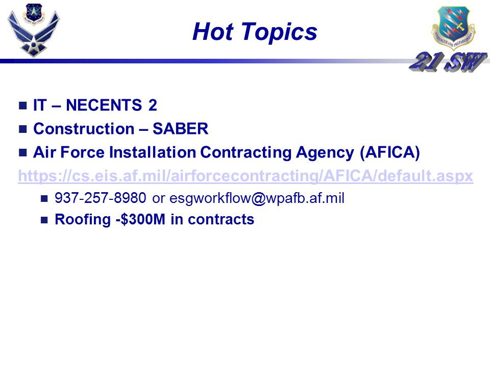 Hot Topics IT – NECENTS 2 Construction – SABER
