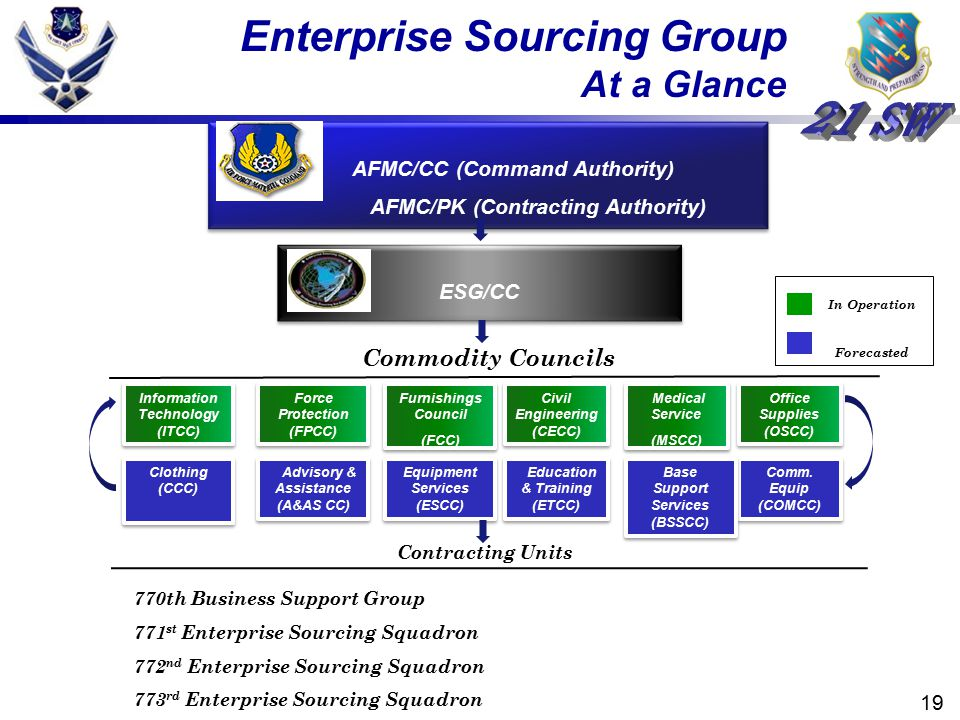 Enterprise Sourcing Group At a Glance