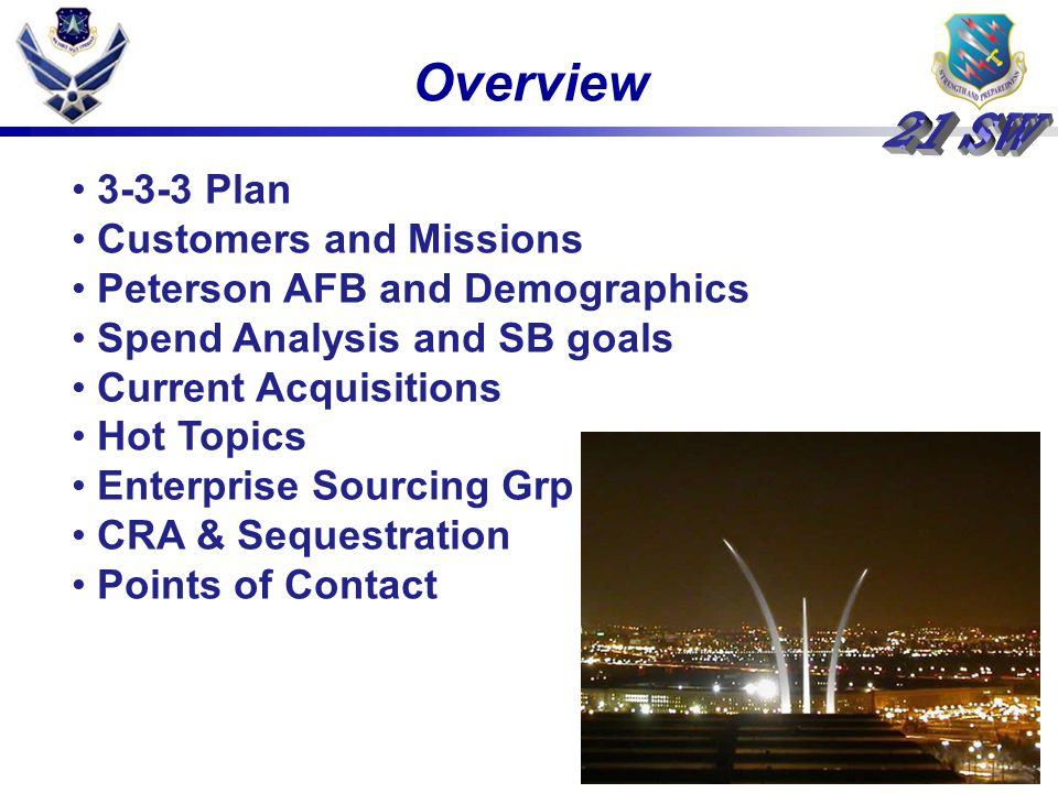 Overview 3-3-3 Plan Customers and Missions