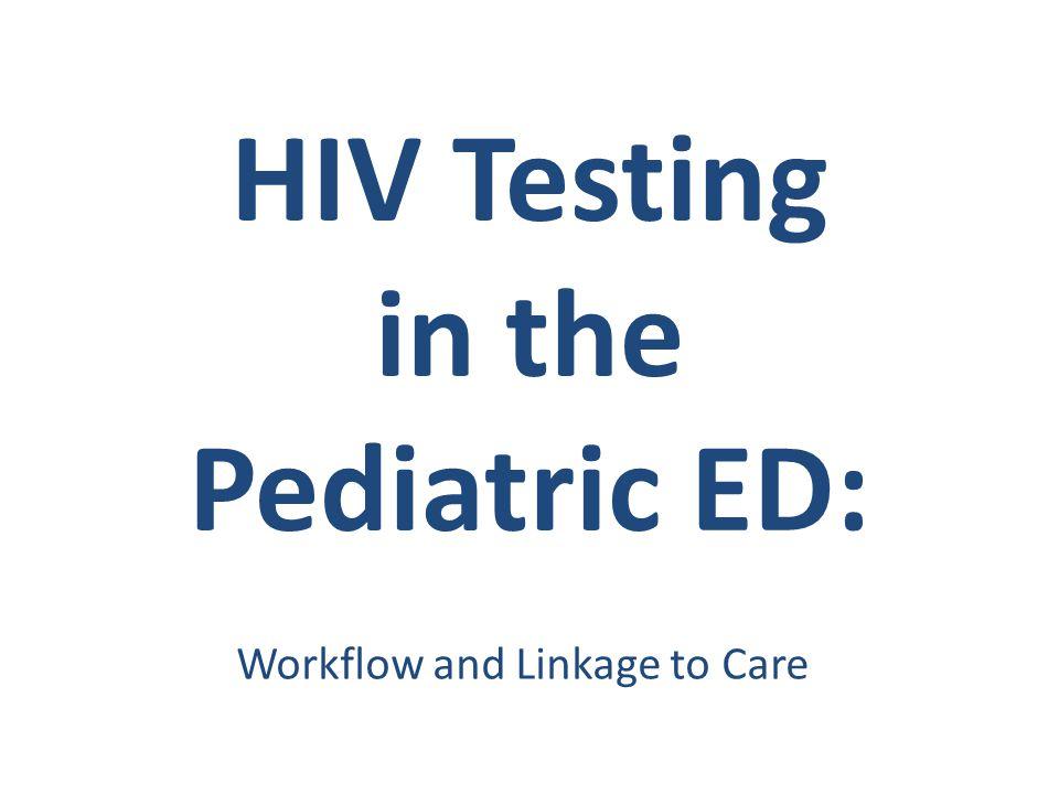 HIV Testing in the Pediatric ED: