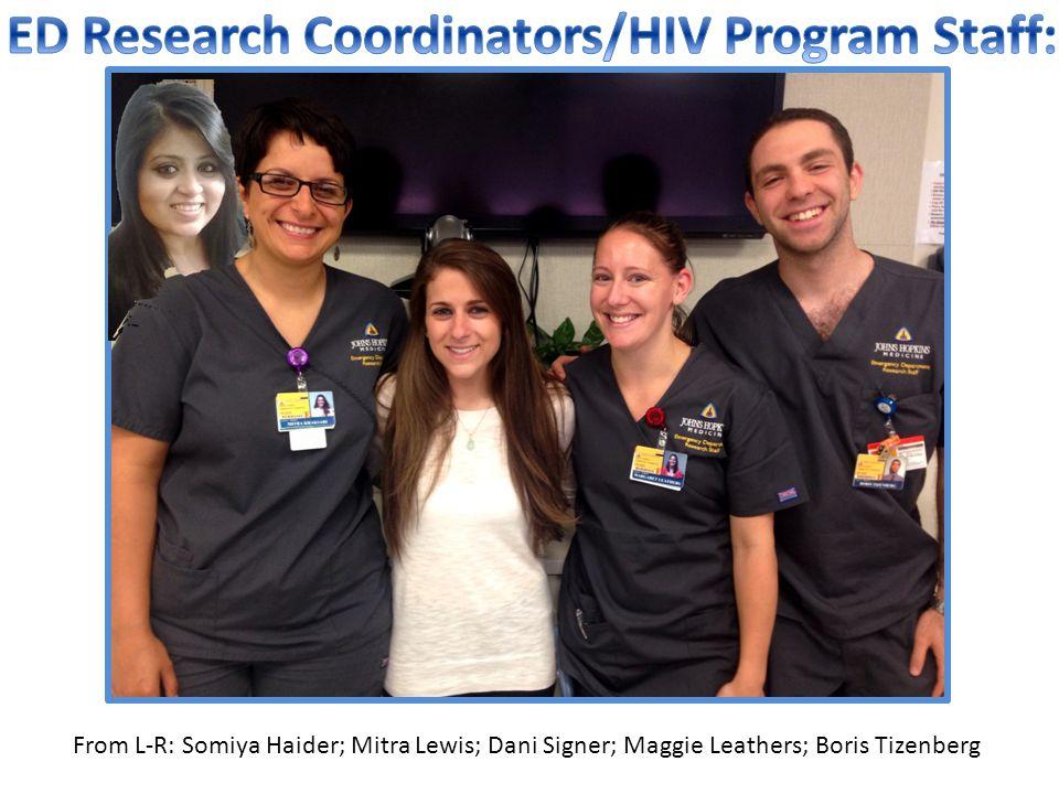 ED Research Coordinators/HIV Program Staff: