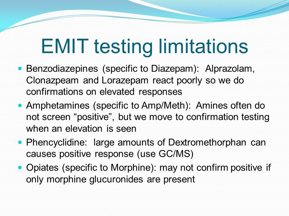 EMIT testing limitations