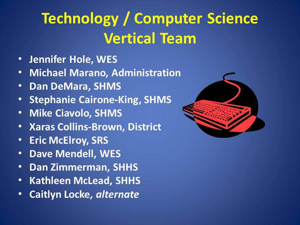 Technology / Computer Science Vertical Team