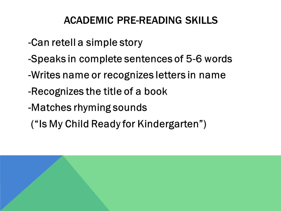 Academic pre-reading skills