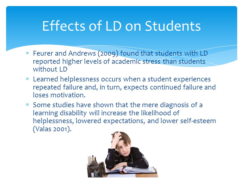 Effects of LD on Students