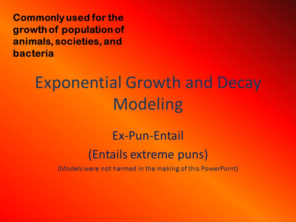 Exponential Growth and Decay Modeling