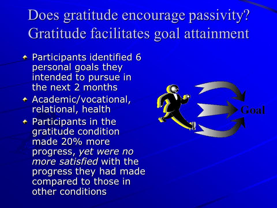 Does gratitude encourage passivity