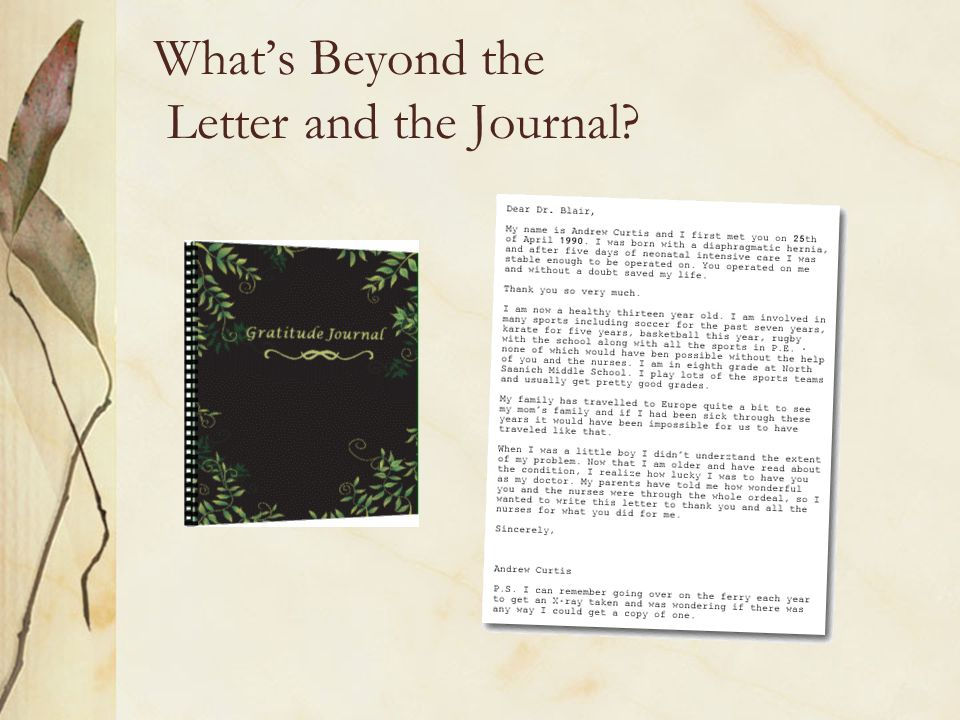 What's Beyond the Letter and the Journal