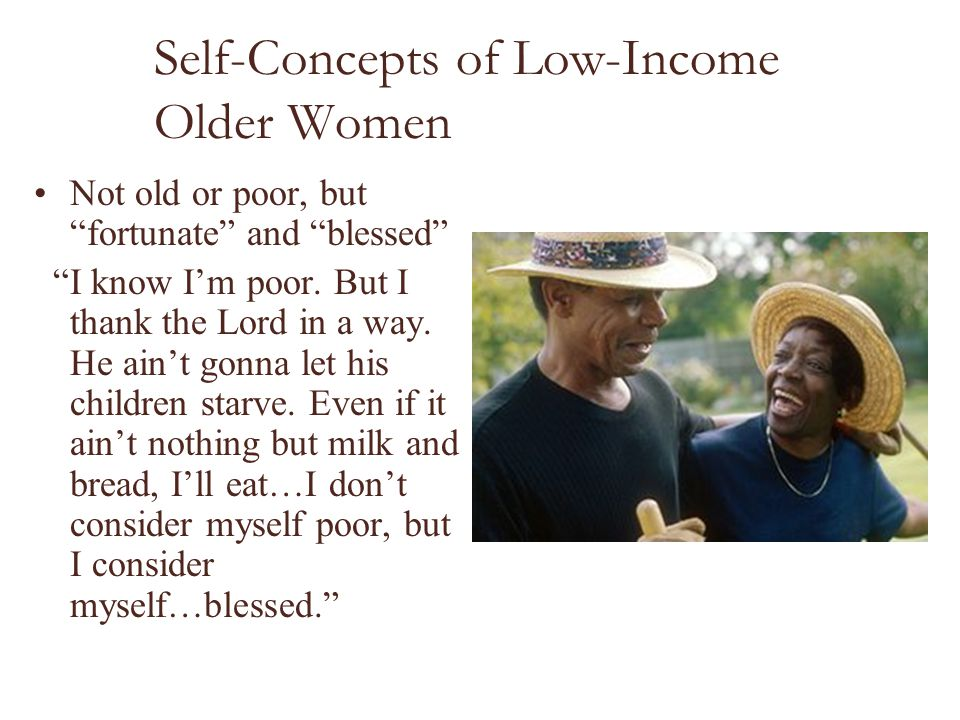 Self-Concepts of Low-Income Older Women