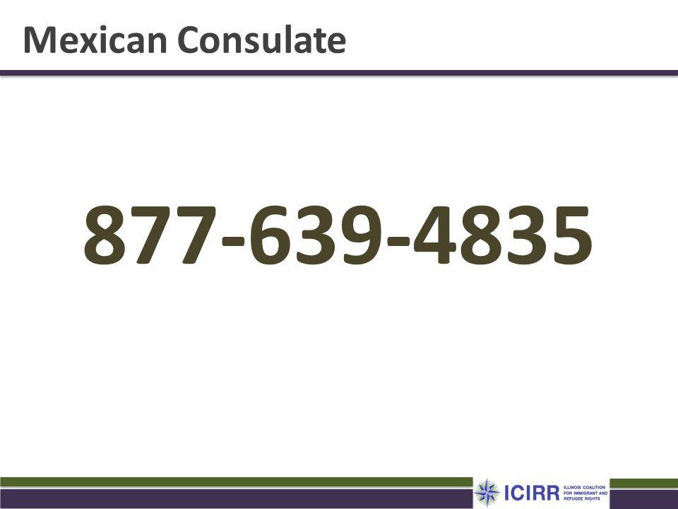 Mexican Consulate 877-639-4835. Haga cita con el consulado para sacar su matricula o matricula.