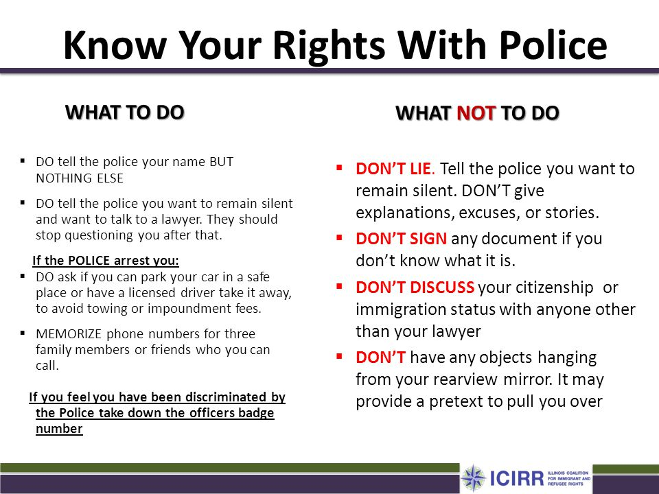 Know Your Rights With Police