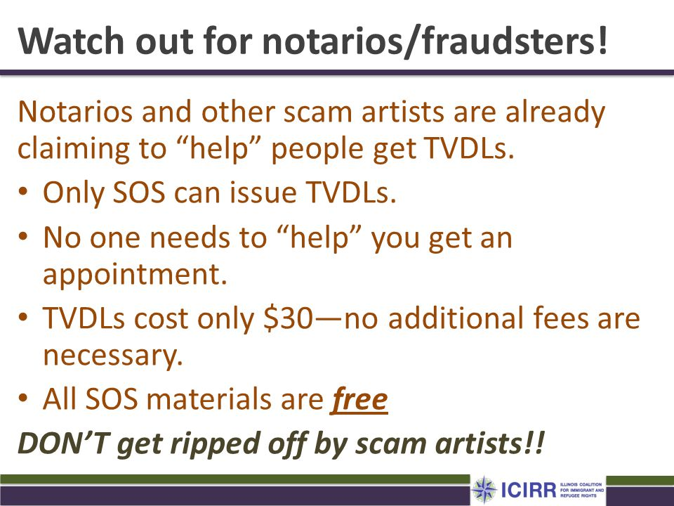 Watch out for notarios/fraudsters!