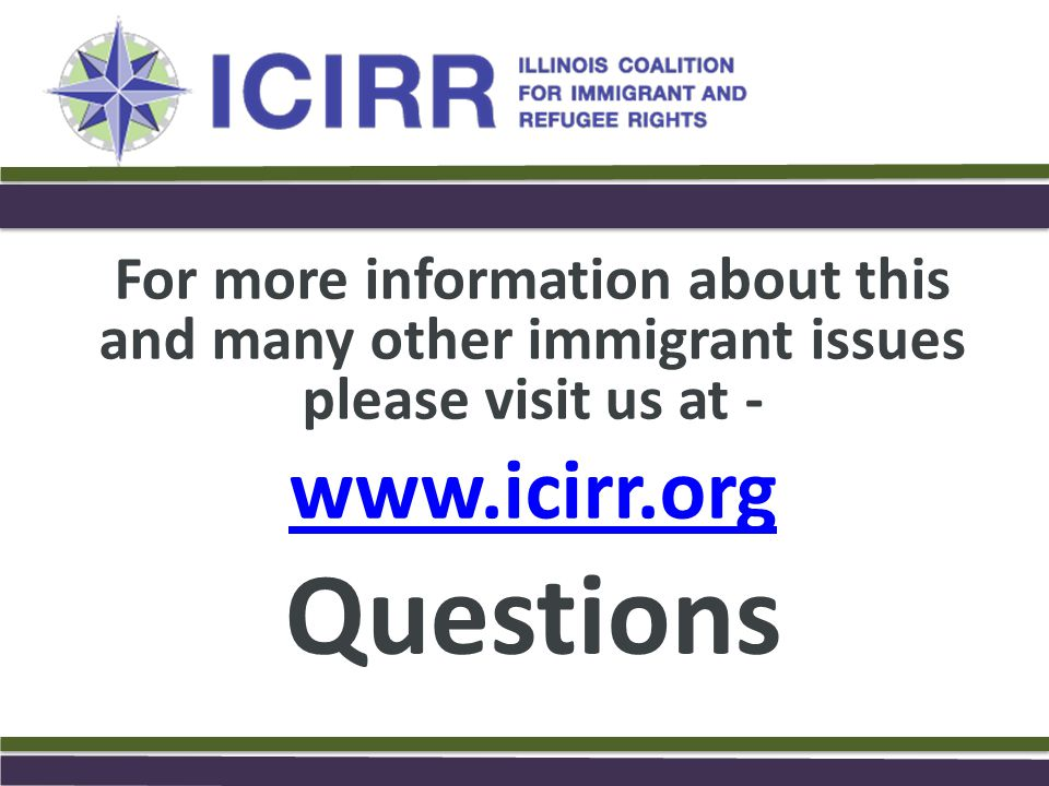 Questions www.icirr.org