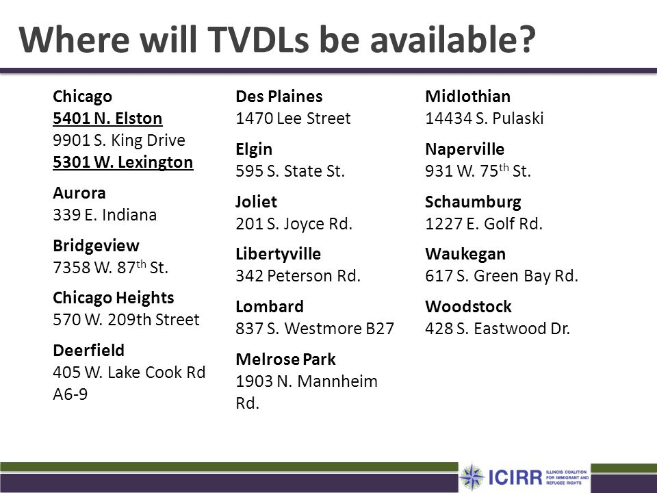 Where will TVDLs be available