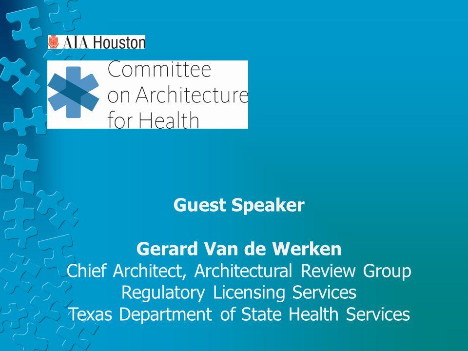 Guest Speaker Gerard Van de Werken