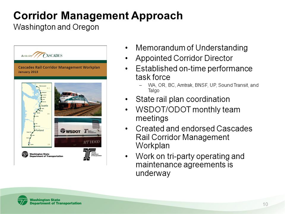 Corridor Management Approach