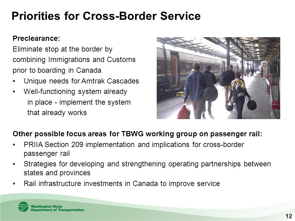 Priorities for Cross-Border Service