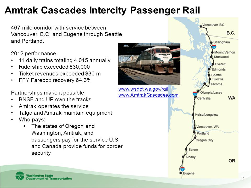 Amtrak Cascades Intercity Passenger Rail