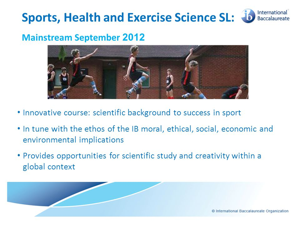 Sports, Health and Exercise Science SL: