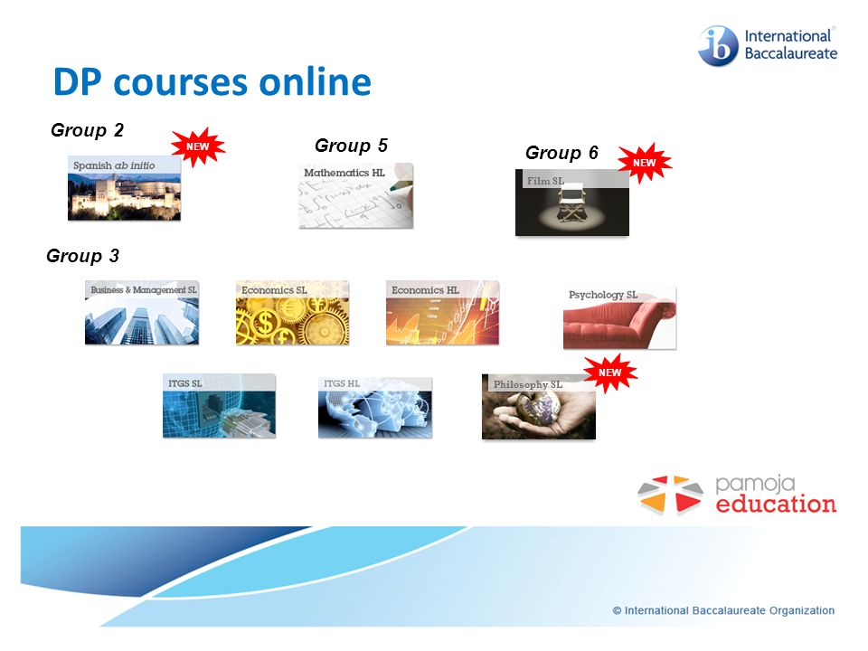 DP courses online September 2011 Planned course offering Group 2