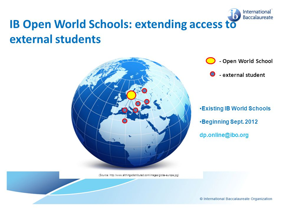 IB Open World Schools: extending access to external students