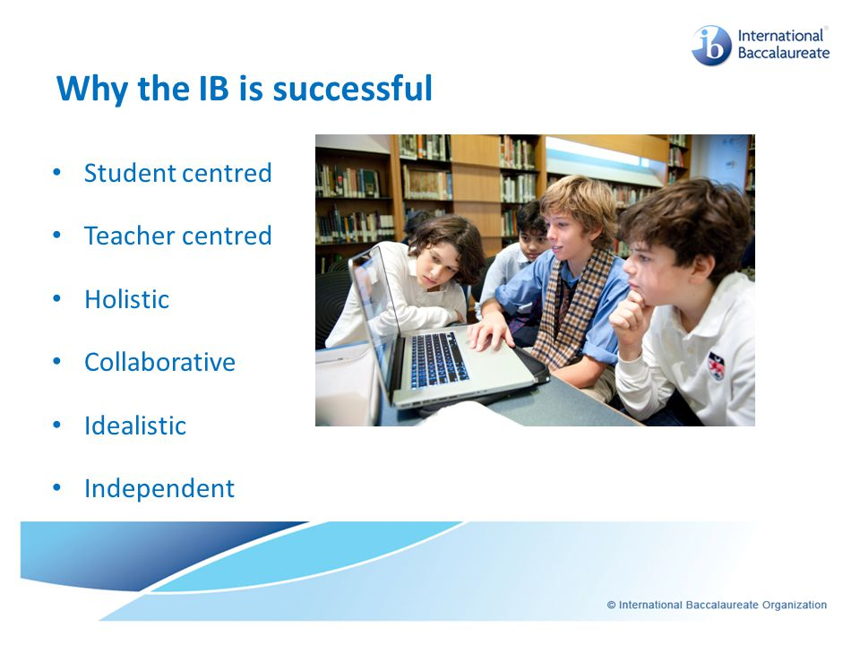 Why the IB is successful