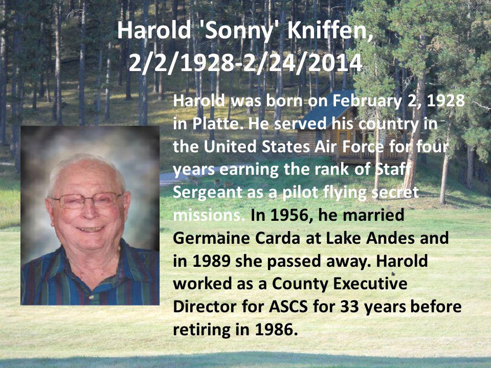 Harold Sonny Kniffen, 2/2/1928-2/24/2014