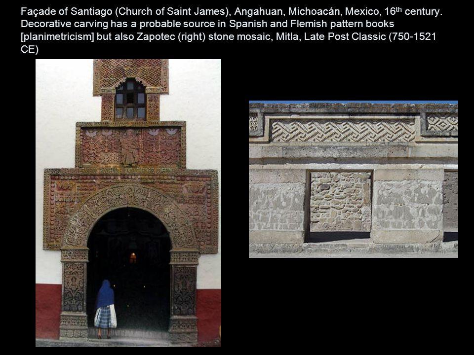 Façade of Santiago (Church of Saint James), Angahuan, Michoacán, Mexico, 16th century.