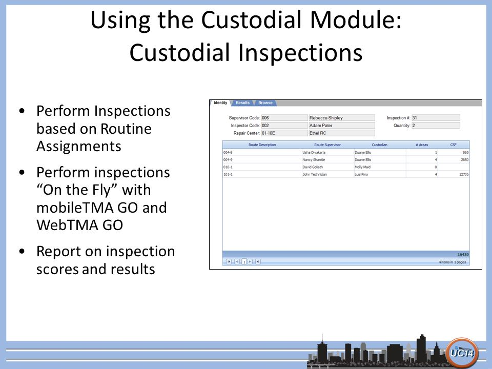 Using the Custodial Module: Custodial Inspections